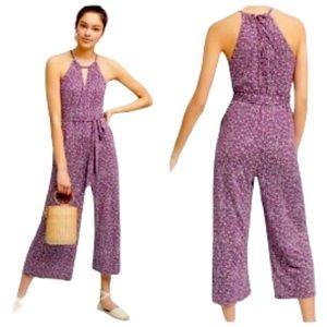 Anthropologie Maeve Claremont Purple Jumpsuit Size M
